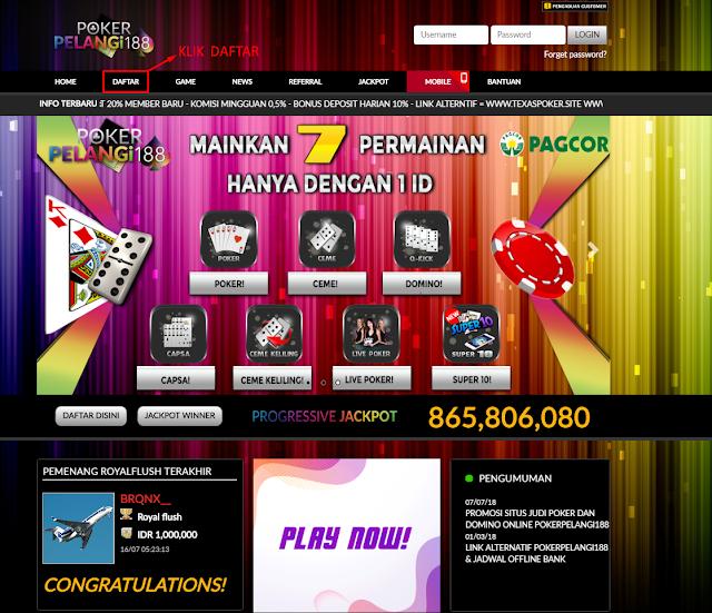 Cara Mendaftar Poker Online Uang Asli Situs PokerPelangi188