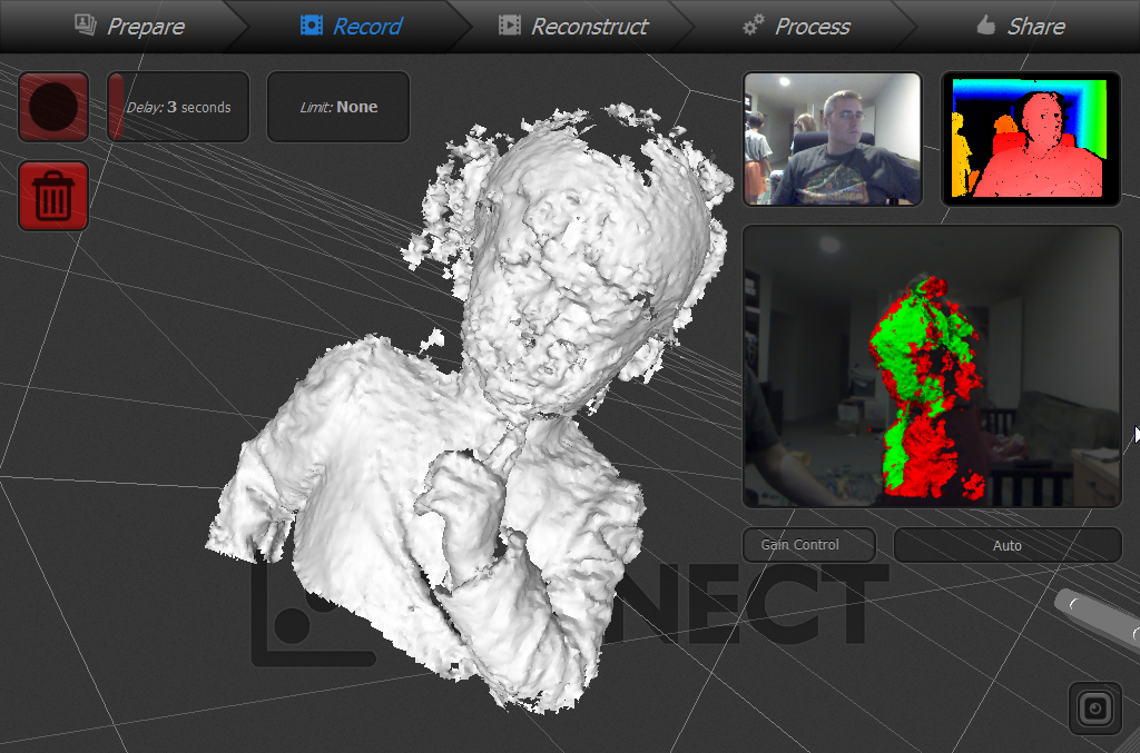 Scanning with a Kinect part 2 - 3D Printing Professor