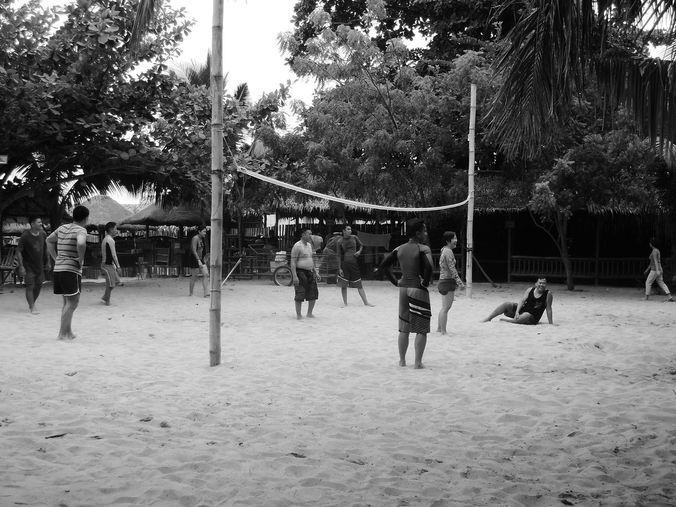 Playing volleyball at Paseo Verde Beach Resort