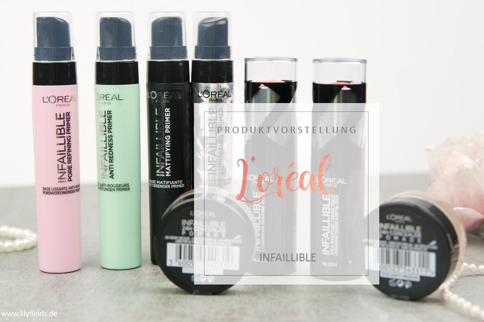 L'Oreal - Infaillible Primer, 24H Concealer Pomade und Kontur-Sticks