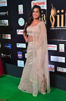 Prajna Actress in bhackless Cream Choli and transparent saree at IIFA Utsavam Awards 2017 009.JPG