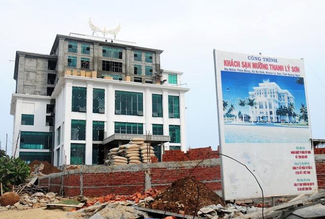 Khách sạn Mường Thanh đang được xây tại huyện đảo Lý Sơn.