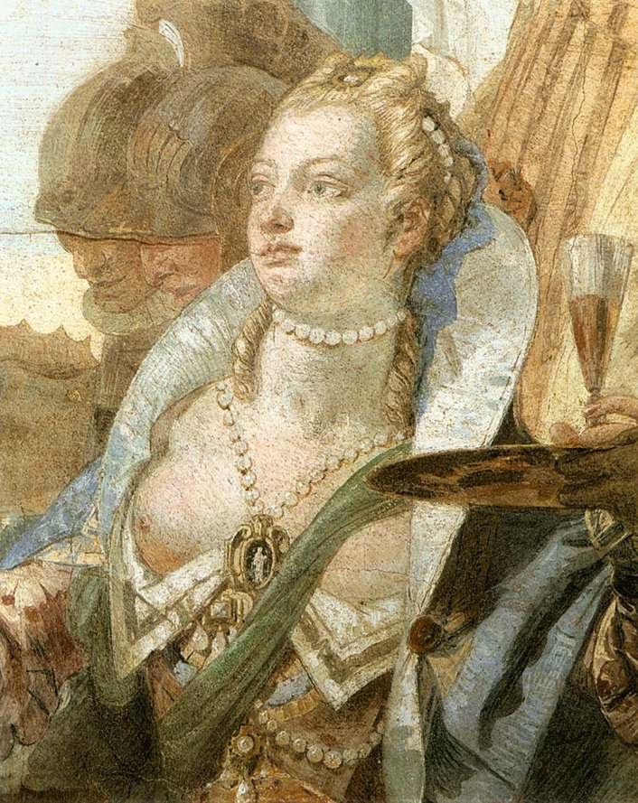 Tiepolo's portrait of Cleopatra, Sala di Ballo, Palazzo Labia, Venice