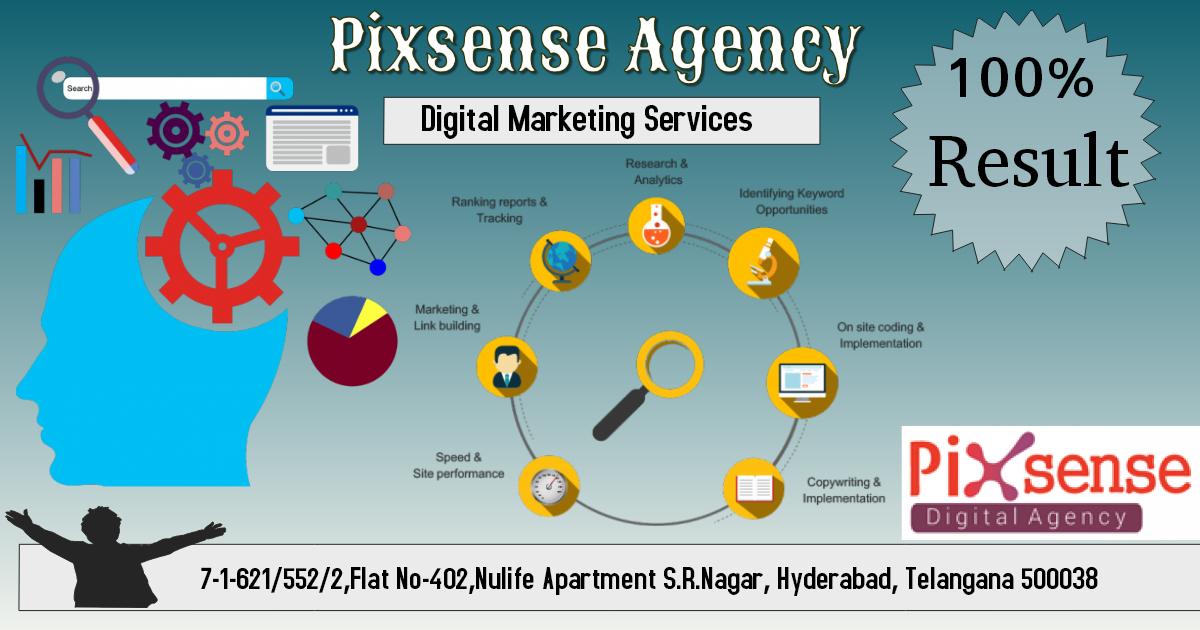 digital marketing services in hyderabad pixsense digital
