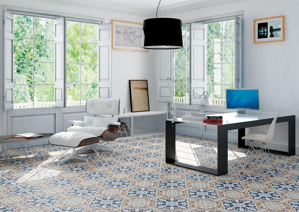 Xóa tan sự đơn điệu của nội thất bằng gạch ốp lát họa tiết