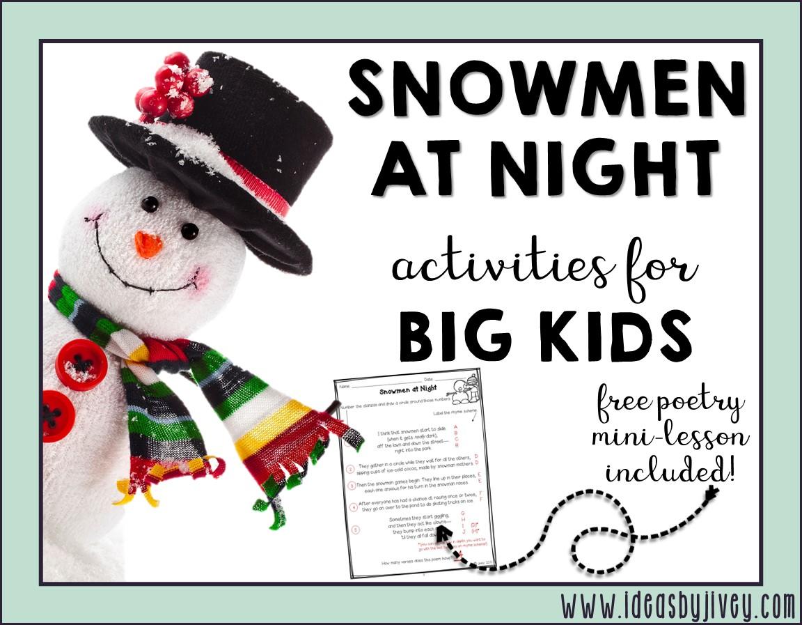 Snowmen At Night For Big Kids
