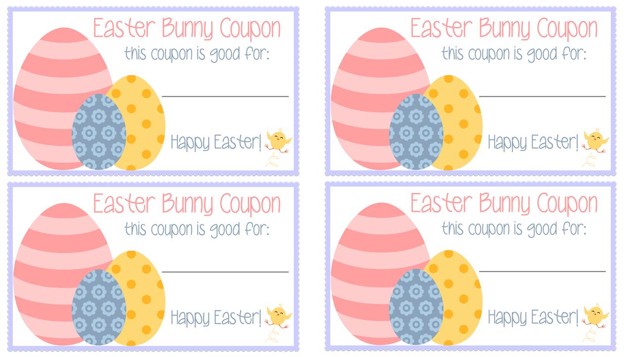 Easter Bunny Coupons  Free Printable   My Mini Adventurer