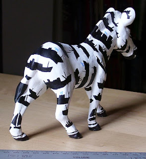 pottery small miniature of zany Zebra Martin davey artist