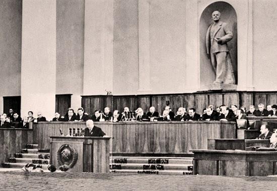 Intervento di Kruscev al XX Congresso del PCUS.