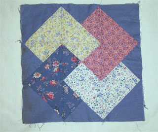 Card Trick block looks like applique but it is patchwork