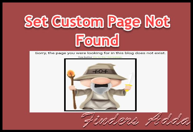 How to set custom page not found in blogger