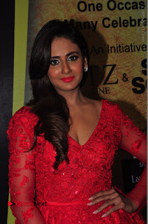 Actress Model Parul Yadav Stills in Red Long Dress at South Scope Lifestyle Awards 2016 Red Carpet  0031.JPG