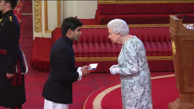 Ankit Kawatra honoured with Queens Young Leaders Award from Queen Elizabeth II in Buckingham Palace