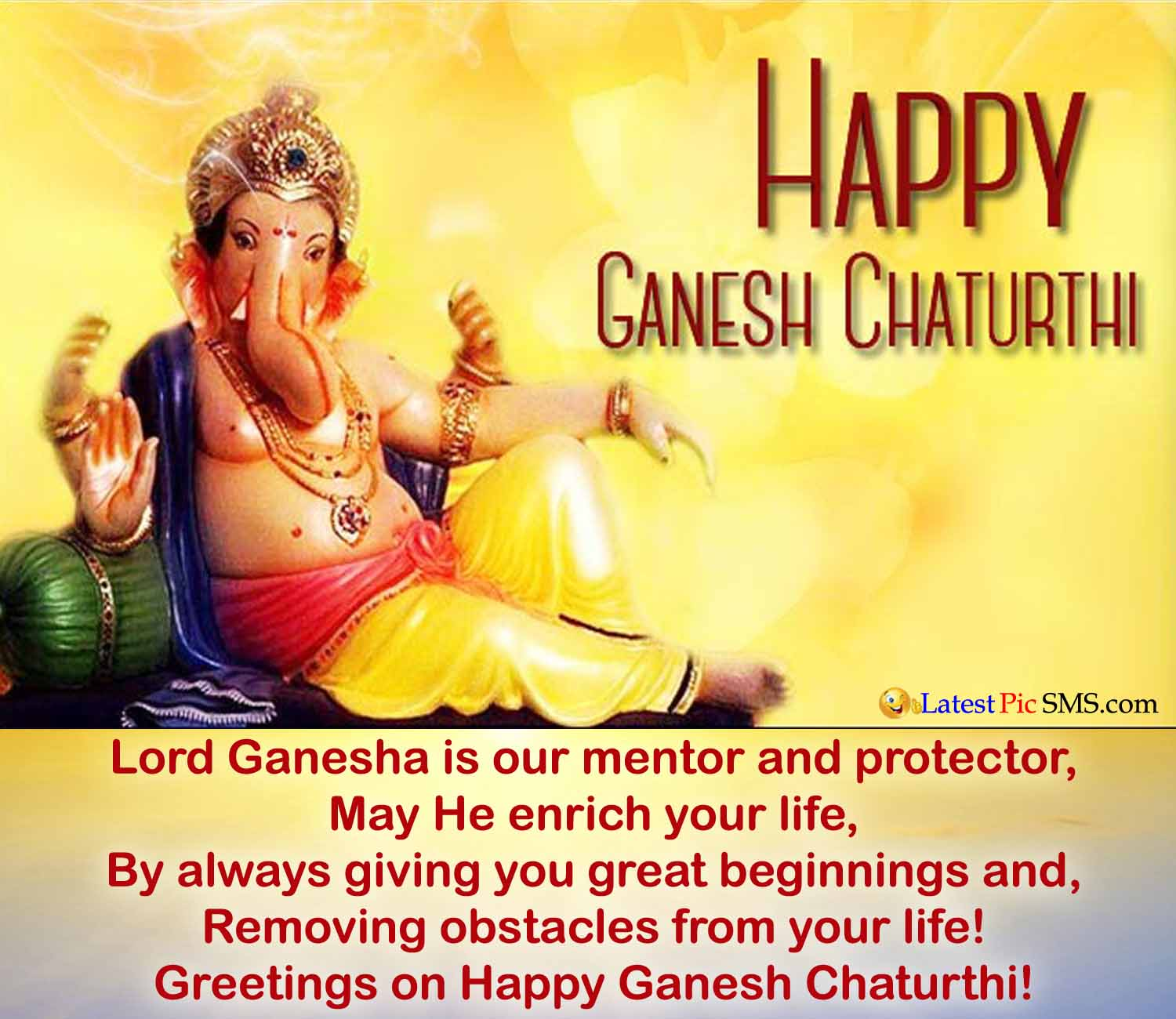 Lord Ganesha wishes wallpaper