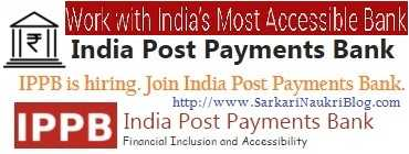 Naukri Vacancy Recruitment in India Post Payments Bank IPPB
