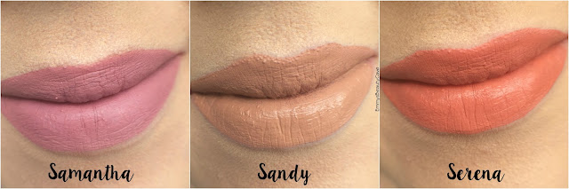 BH Cosmetics Swatches Samantha Sandy Serena