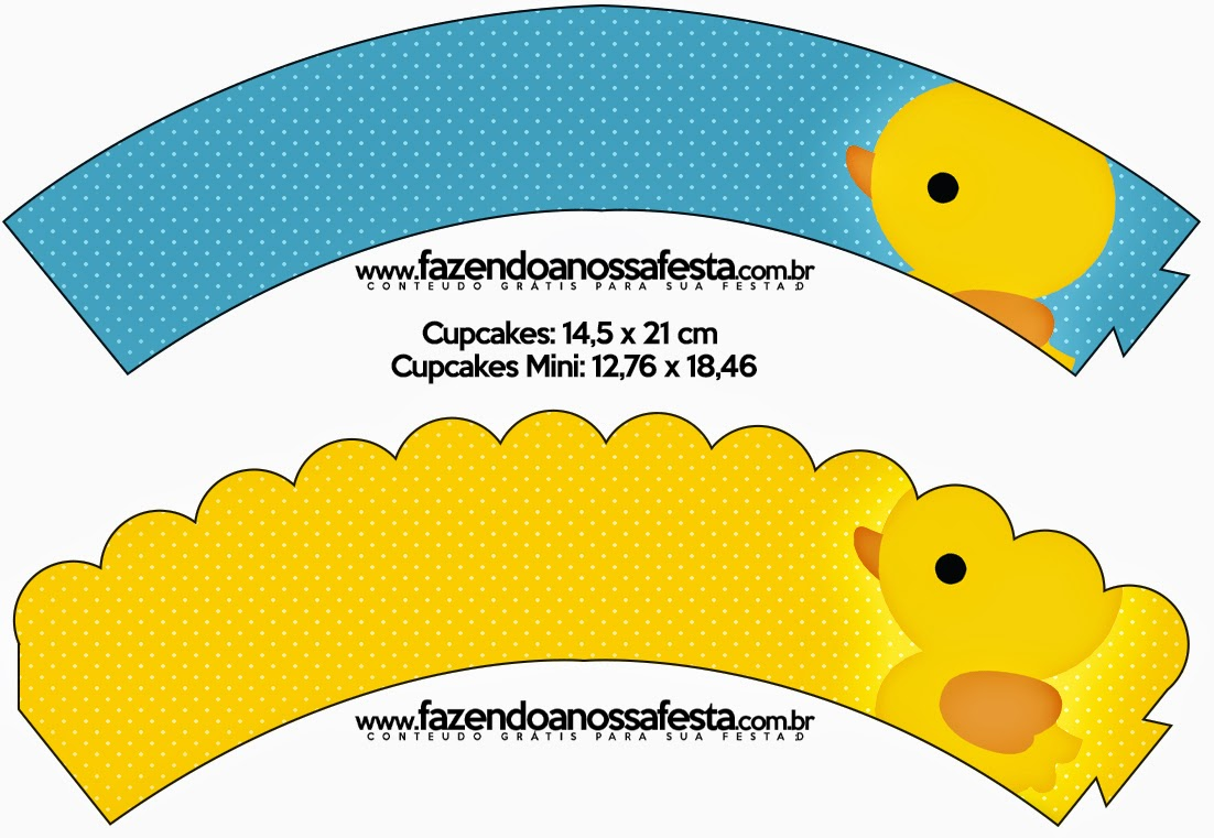 Rubber Ducky Free Printable Cupcake Wrappers.