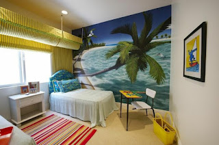 dormitorio tema playa