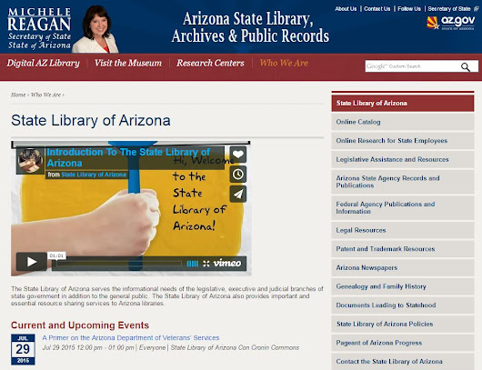 UpFront with NGS: URGENT! -- Arizona State Genealogy Library in jeopardy