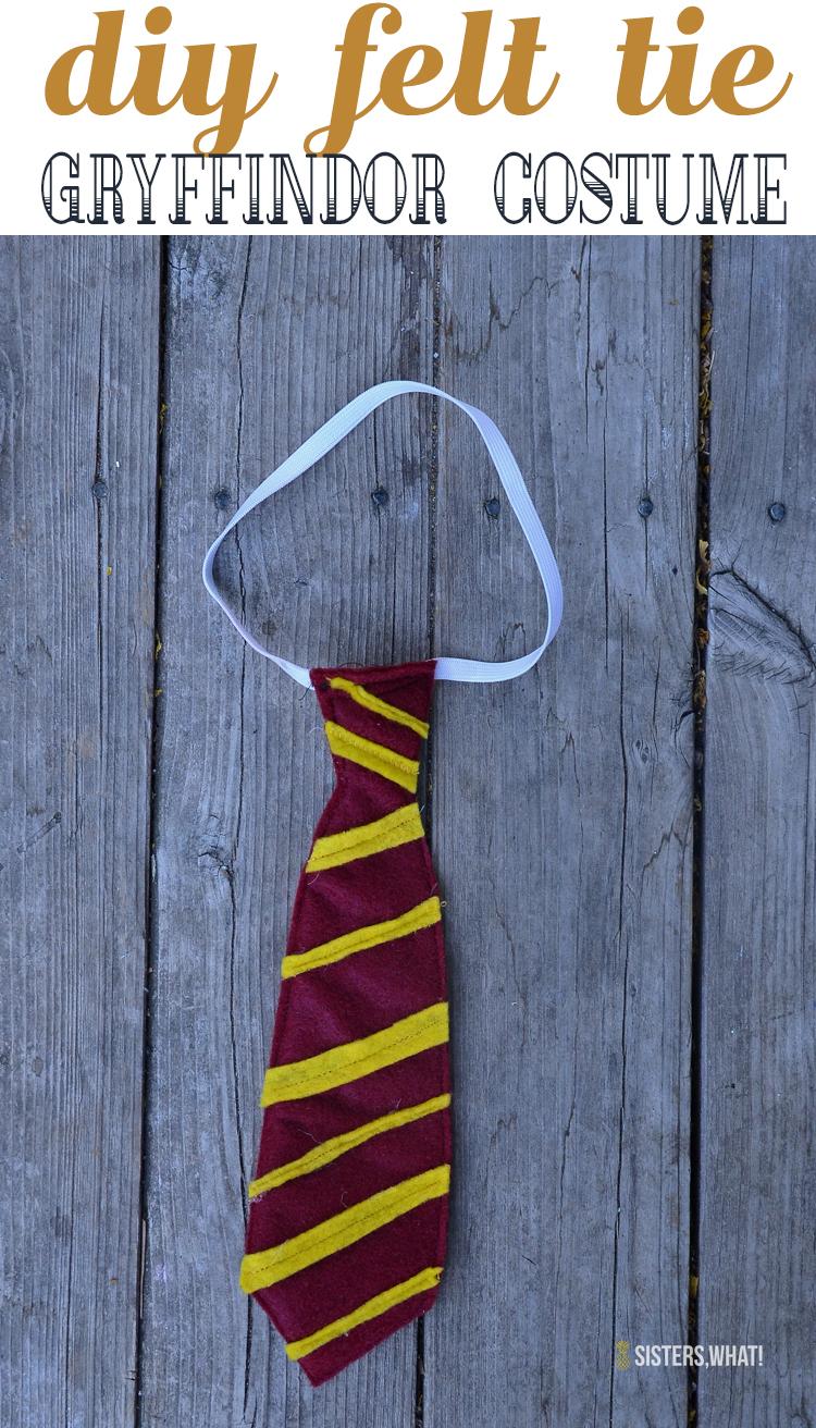 DIY felt tie for a Harry Potter Gryffindor Costume
