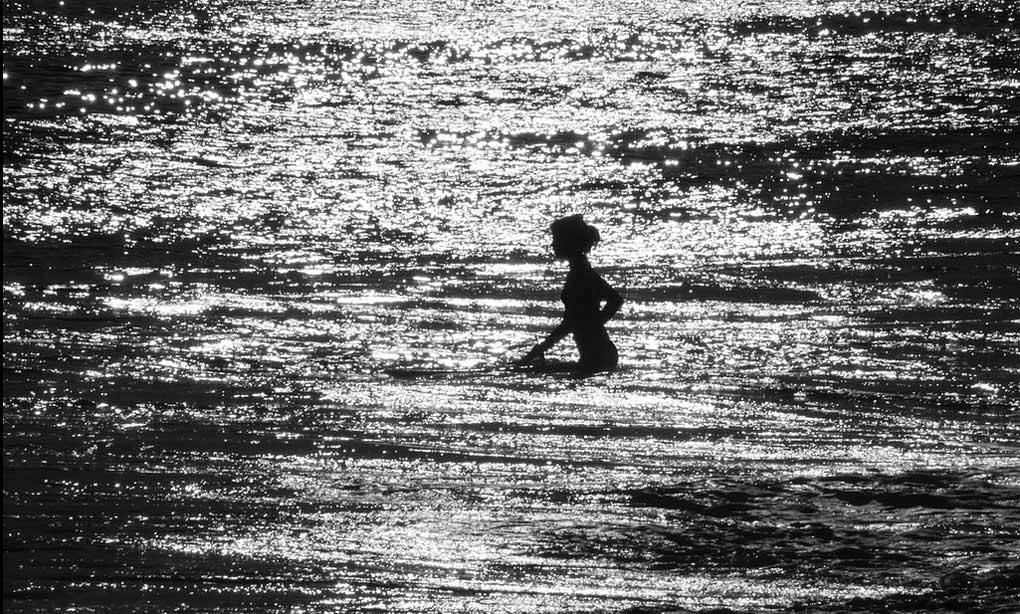 Girl at Sea Water
