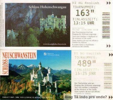 ticket para os castelos