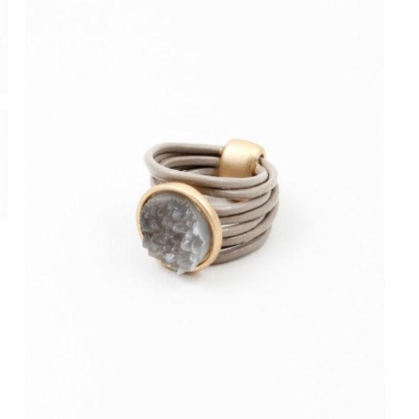 anillo piedras naturales beconcept