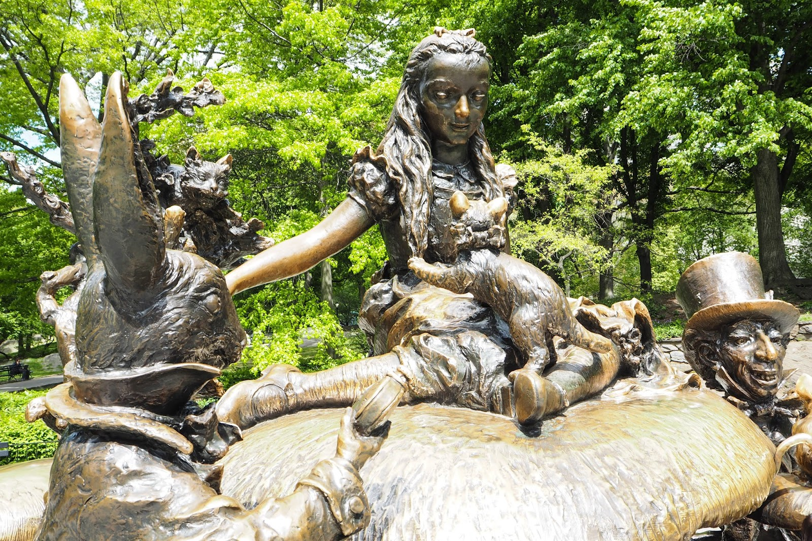 Statue of Alice in Wonderland in Central Park