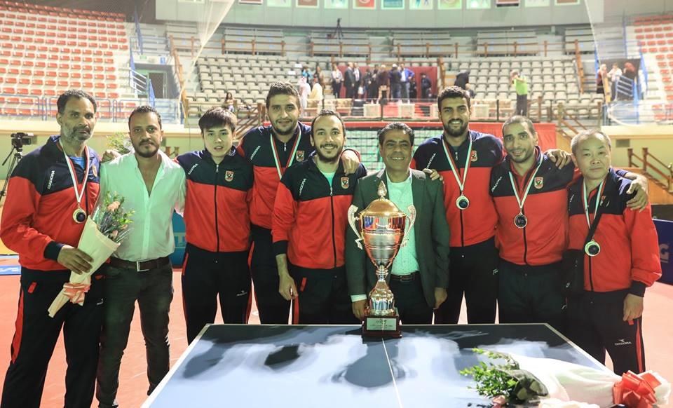 رجال الاهلي لتنس الطاولة علي عرش البطولة العربية للمرة الثامنة عشر في تاريخ الاهلي