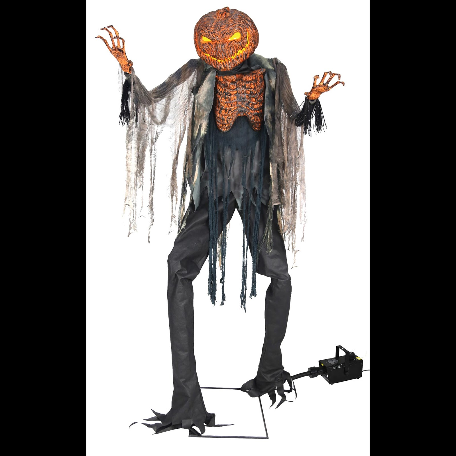 Horror hall gothic cheap halloween props and costume for Animated scarecrow decoration