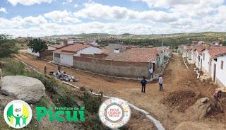 Em Picuí, prefeitura inicia a pavimentação da rua Agenor Alves no bairro São José