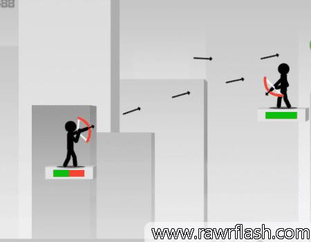 Jogos de precisão, arqueiro, arco e flecha, stick man.