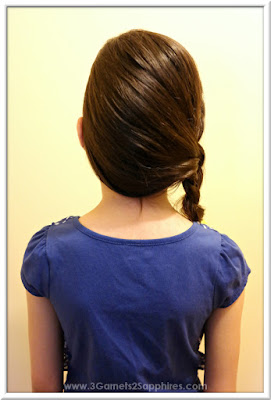 Easy #StraightAStyle hairstyle for back-to-school - Half French side braid for girls