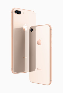 Source: Apple. The new iPhone 8 and iPhone 8 Plus feature all-glass designs.
