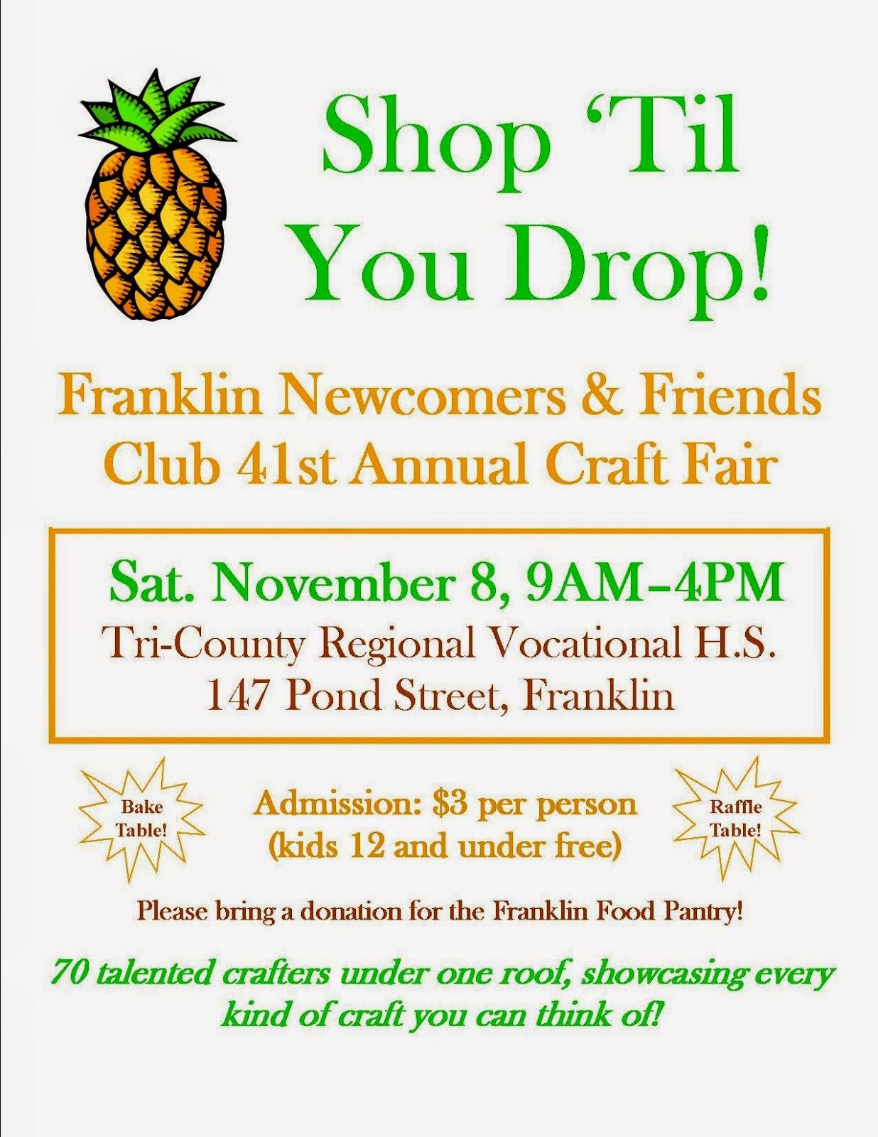 Tri County Franklin Ma Craft Fair
