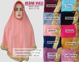 Jilbab bergo dengan rumbai cantik - aneli