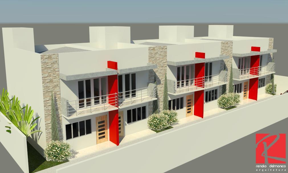 Veja mais em nosso site. Renato Delmonico Arquitetura Sobrados Geminados