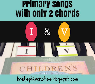 Primary Songs with only 2 Chords  Teaching Piano Chords