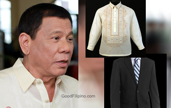 President Rody on his Inauguration: 'I don't like Barong, I don't like Amerikana'
