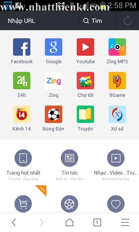 Uc Browser 10 miễn phí trình duyệt dành riêng cho điện thoại, máy tính bảng