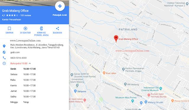 Alamat Kantor Grab Malang