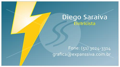 cartoes de visita eletricistas raio - Cartões de Visita para Eletricistas, Criativos e plugados