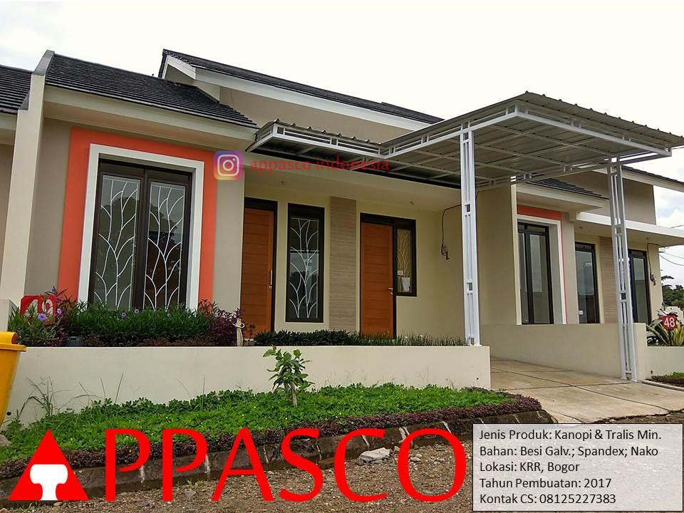 Kanopi Minimalis Galvanis dan Tralis Jendela Minimalis di KRR Bogor