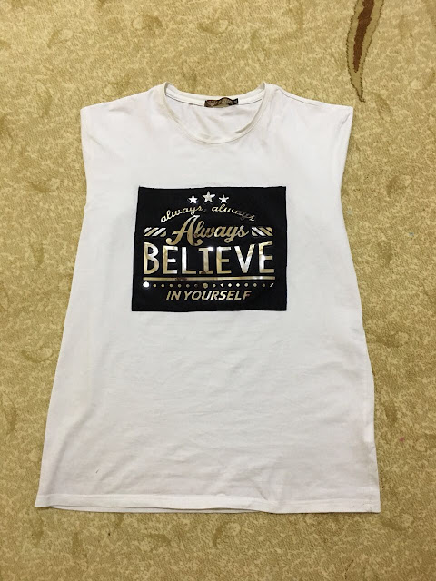 A shirt with motivational quote