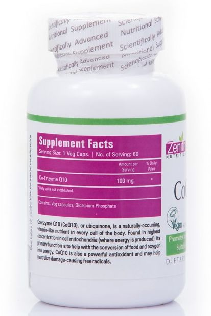 Zenith Nutrition CoQ10 Supplement Details