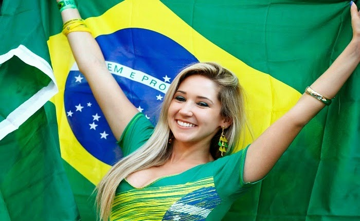 Beautiful Girl Supporter in World Cup Ceremony 2014