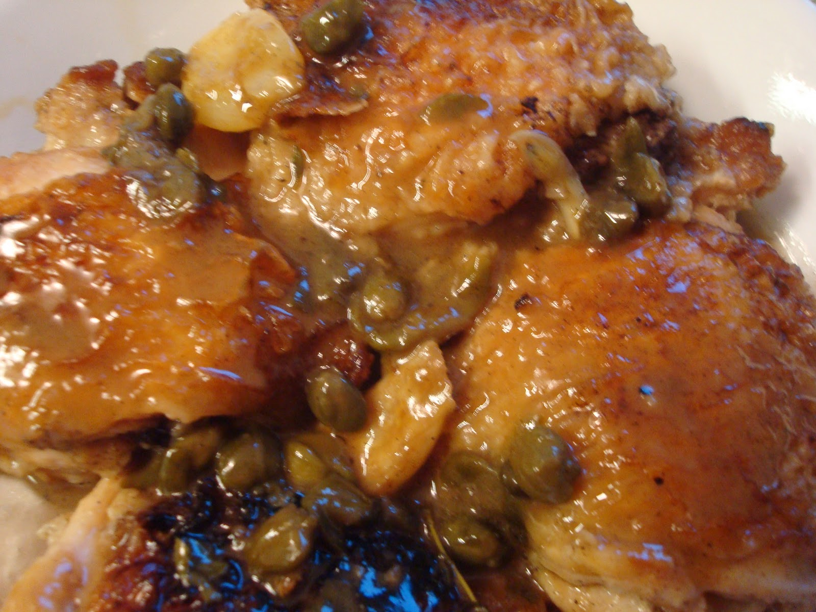 Schnitzel and the Trout: Braised Chicken with Lemon and Capers