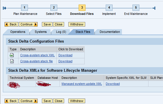 SAP BASIS Crew: Generating Stack(XML file) in Solution manager for