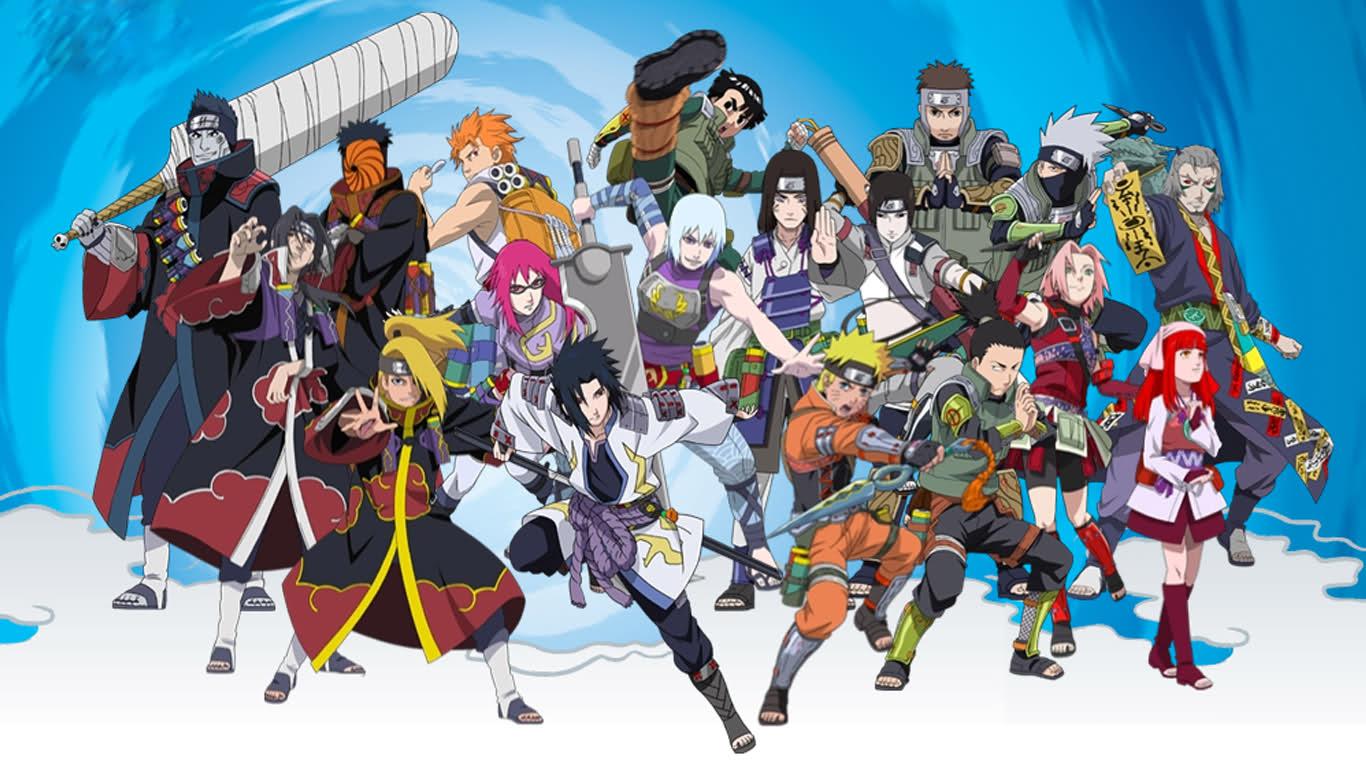 Animes e Jogos: personagens naruto