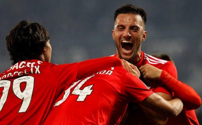 Benfica festejo do golo